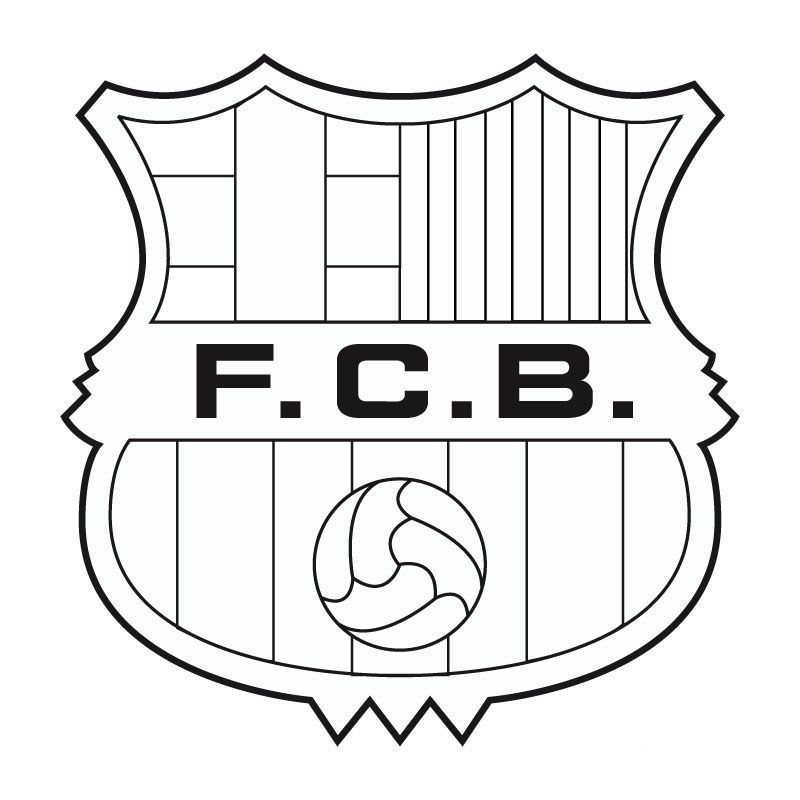 PARA IMPRIMIR O DESCARGAR FC BARCELONA  COLOREAR ESCUDO DEL BAR  A